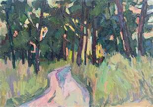 Oil painting Forest park Peter Tovpev