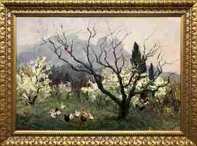 Oil painting Spring in Alupka Basov Yakov Alexandrovich