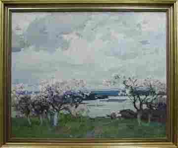 Oil painting Apple trees Zakharov Fedor Zakharovich