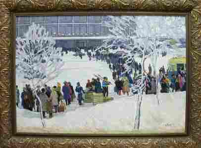 Oil painting Winter Bednoshey Daniil Panteleyevich