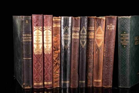 Decorative set of 111 books, early 20th century, folio