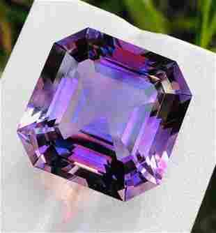 43 Carats Natural Assher Cut Purple Amethyst ~ 21x21x16