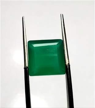 Emerald Green Chalcedony Cut Stone - 5.5 Carats -