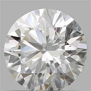 GIA CERT 0.55 CTW ROUND DIAMOND DVVS2