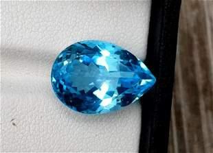 Topaz, 13.10 Carats Very Beautiful Natural Blue Swiss
