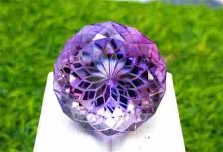 Amethyst, 62.90 Carats Natural Top Color Fancy Flower