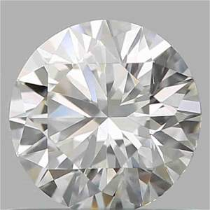 GIA CERT 0.71 CTW ROUND DIAMOND HIF