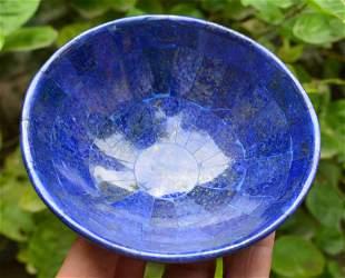 284 Grams Royal Blue Lapis Lazuli Bowl