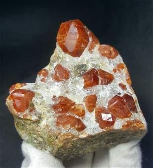 461 Grams Amazing Undamaged Hessonite Garnet Crystals