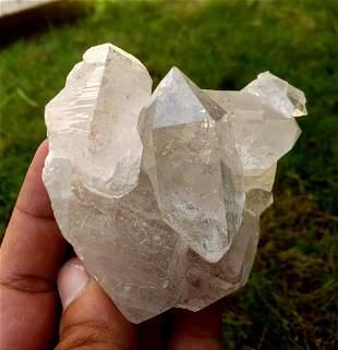 Beatiful Quartz Crystals Cluster - 195.8 Grams -