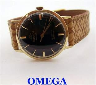 14k MOVADO KINGNATIC SUB SEA Automatic Watch 1960s Cal