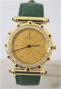 Solid 18k Unisex THE ROYAL DIAMOND Watch with 0.75 Ct