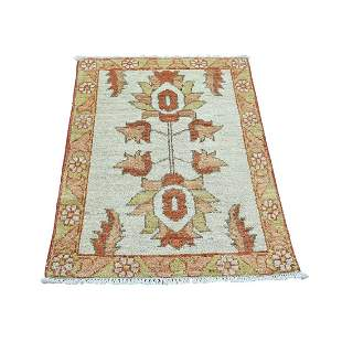 Hand Knotted Peshawar Pure Wool Oriental Rug