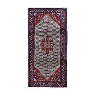 Gallery Size New Persian Hamadan Pure Wool Hand Knotted