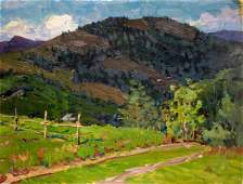 Oil painting Road to the mountains Fomin Anatoly