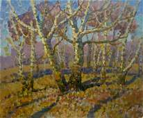 Oil painting Early spring Ruban Grigory Savelievich