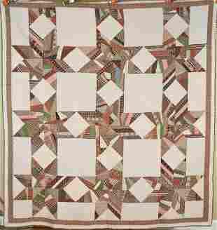 1870's Strip Stars Quilt