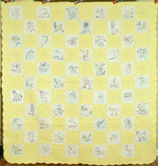 Well Quilted 30's Pictorial Quilt
