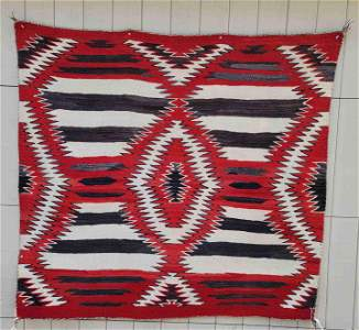 Navajo woven 3rd phase variation womans blanket/rug ca