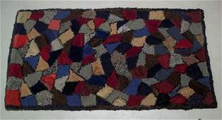 """""""Stained Glass"""" Geometric Hooked Rug"""