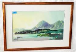 1998 US Hawaii WC Painting Kaneohe Bay Stephen Quiller