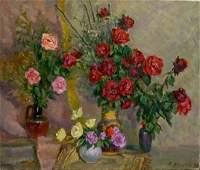 Oil painting Roses Mynka Alexander Fedorovich