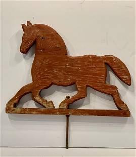 c. 1940 Wood Running Horse Weathervane