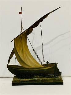 c. 1890 Tin Sailboat