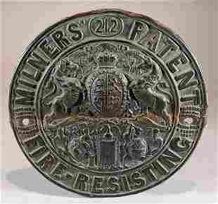 Patinated Brass Round Shield
