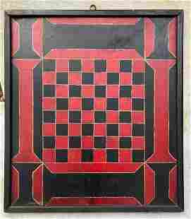 Early 20thc striking wooden gameboard