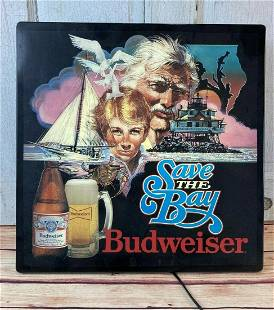 Vintage Budweiser Beer Lighted Sign Maryland Save the