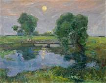 Oil painting Romantic evening Sevastyanov Viktor