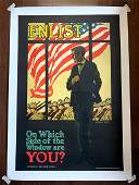 """Enlist - Which Side of the Window? (1917) 25.75"""" x"""