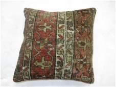 "Green Rust Heriz Rug Pillow 1' 5"" x 1' 5"" (43 x 43 cm)"