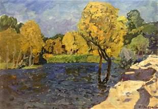 Oil painting Zaporozh'ye Victor Kirillovich Gaiduk