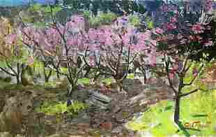 Oil painting Persian garden Golub Stepan Filippovich