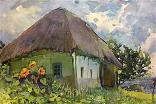 Oil painting Old house in Poltava Kolesnik Boris
