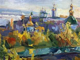 Oil painting Domes of churches