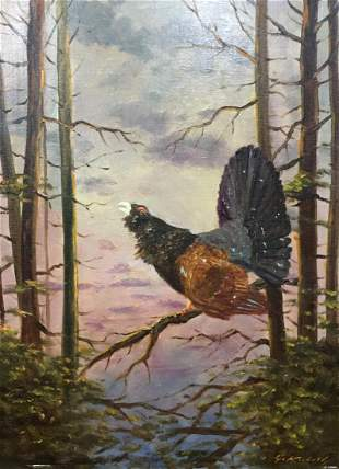 Oil painting Early bird Evgeny Adolfovich Kibrik