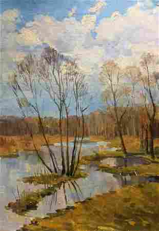 Oil painting Swamps