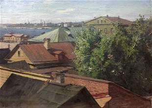 Oil painting City landscape Birta Frensen