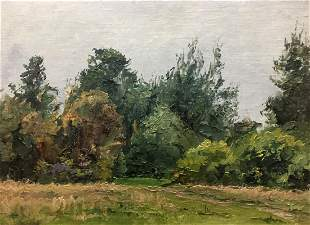Oil painting Near the forest Yakovlev Vasily