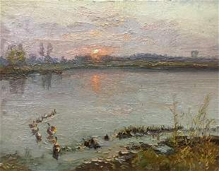 Oil painting The Sun is rising Zhezher Anatoly