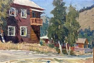 Oil painting Street life