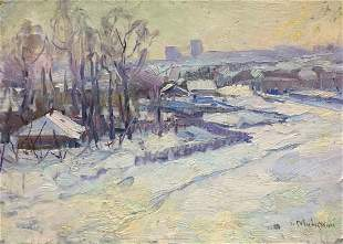 Oil painting On Shuliavka Minsky Grigory Semenovich