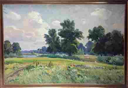 Oil painting Natural landscape Nepiypivo Vasil