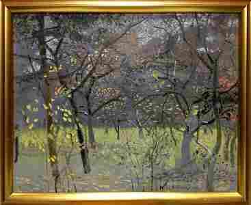 Oil painting Beautiful forest Zaretsky Victor Ivanovich