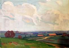 Oil painting Fields Khrustalenko Nikolay Aleksandrovich
