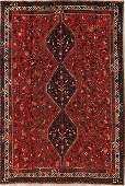 Antique Tribal Shiraz Persian Hand-Knotted 7x10 Wool