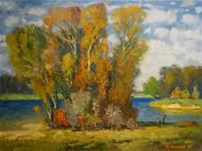 Oil painting Autumn beauty Mynka Alexander Fedorovich